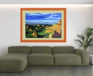 """Imagen de cuadro moderno en Oleo """"Las Médulas"""""""