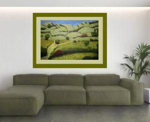 Imagen de cuadro moderno en Oleo Paisaje Verde