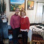 imagen de Mirelu con D. Alfredo Rodriguez (Circulo de Pintores Solidarios)